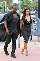 Kim Kardashian and Kanye West   Out for Dinner at Prime 112