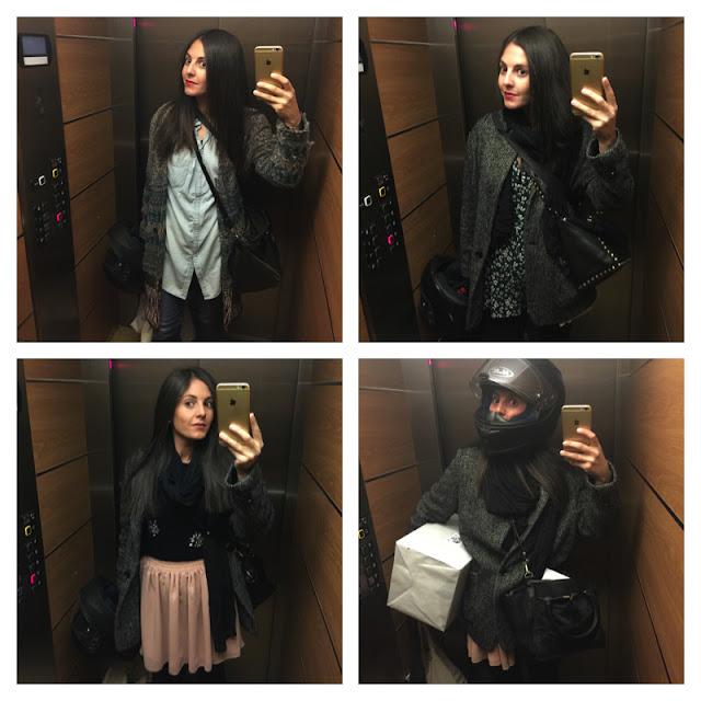 selfies en el ascensor