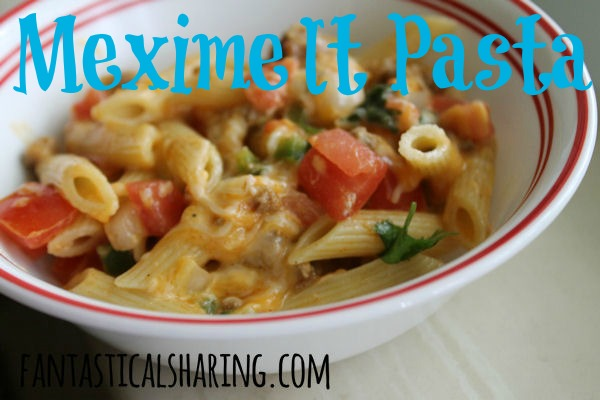 Meximelt Pasta | Turning a taco into an amazing, mouthwatering pasta dish | www.fantasticalsharing.com