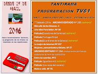 Tantirama Programación TV desde el 29/04/2016