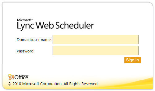 microsoft lync server 2010 web scheduler is now available the