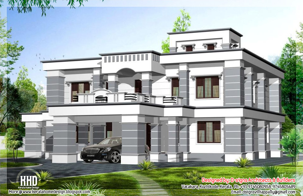 3200 square feet colonial style home design kerala house for Colonial style homes pictures