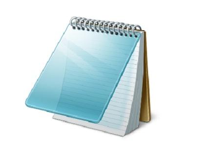 Hacer programa con bloc de notas
