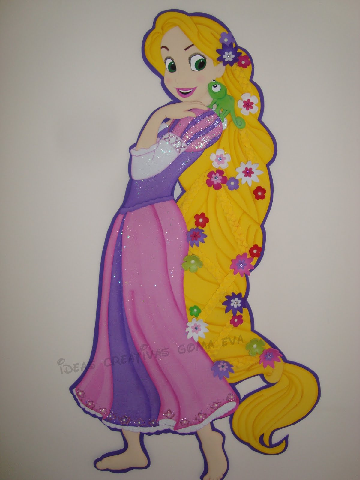 aplique en fomi princesa rapunzel gracias a adriana del taller de nana ...
