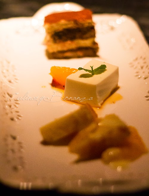 Triple Dessert Platter: Tiramisu, Pannacotta & Orange Cake