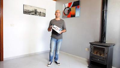 Pintar salón con pintura ecológica al agua. www.enredandonogaraxe.com