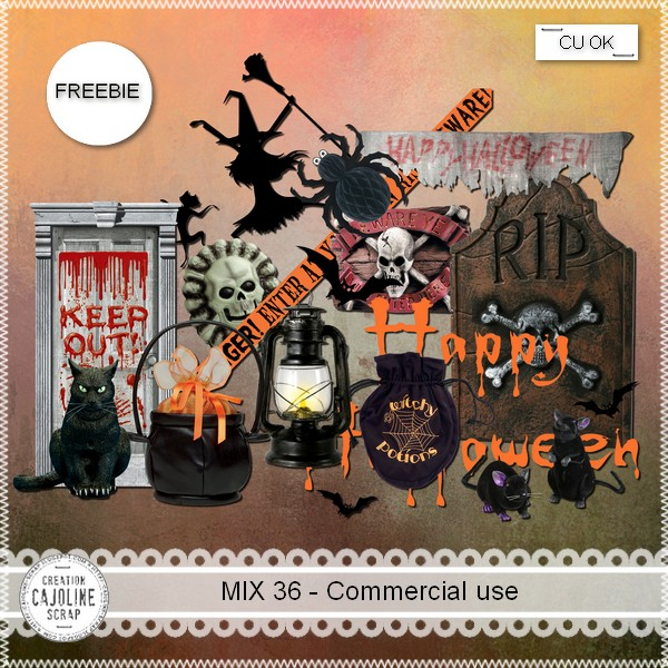 Halloween Freebie - MIX 36 - Commercial Use by Cajoline Cajoline_mix36_cu