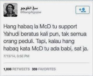 Beza McDonalds Kalau Ada Daging Babi