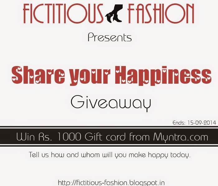Win Rs. 1000 gift card from Myntra