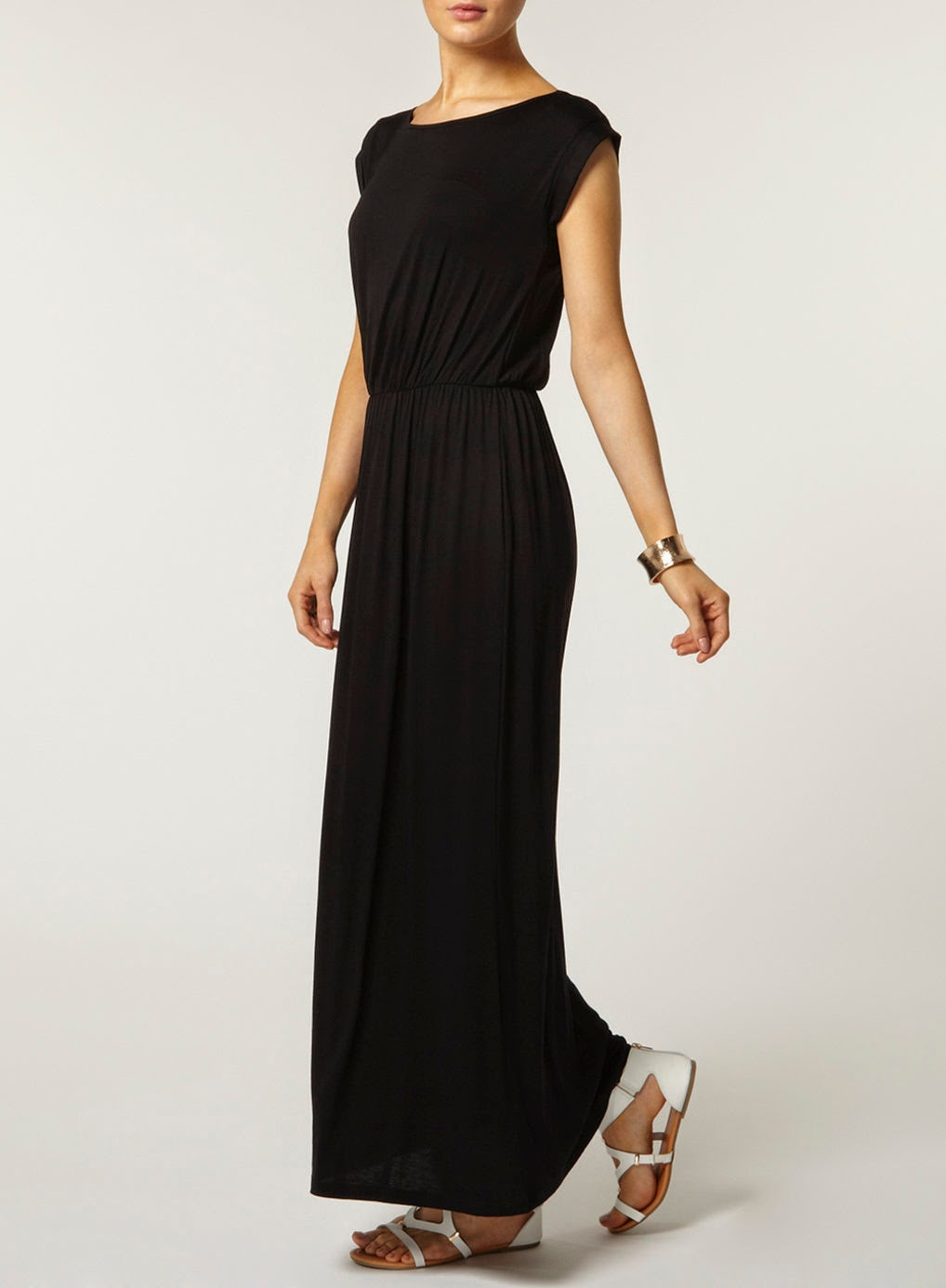 dorothy perkins black maxi dress
