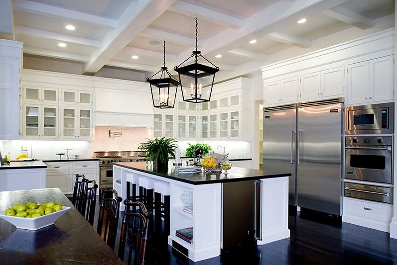 Hudson baby design enviable white kitchens - White kitchen with dark island ...