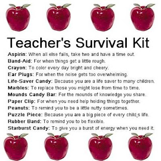 Textbook Mommy: Make Your Child's Teacher A Fun Survival Kit