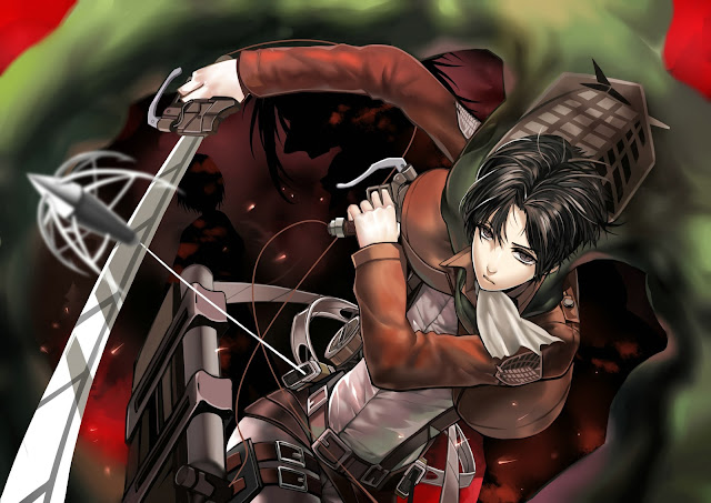 Levi Rivaille Cape 3D Maneuver Gear Attack on Titan Shingeki no Kyojin Male Guy Anime HD Wallpaper Desktop PC Background a36