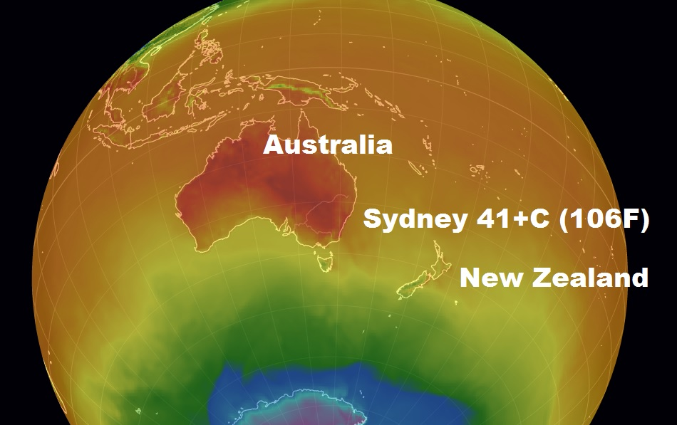 Plus 41C expected as the mercury is soaring in Sydney and NSW yet another heatwave bears down...