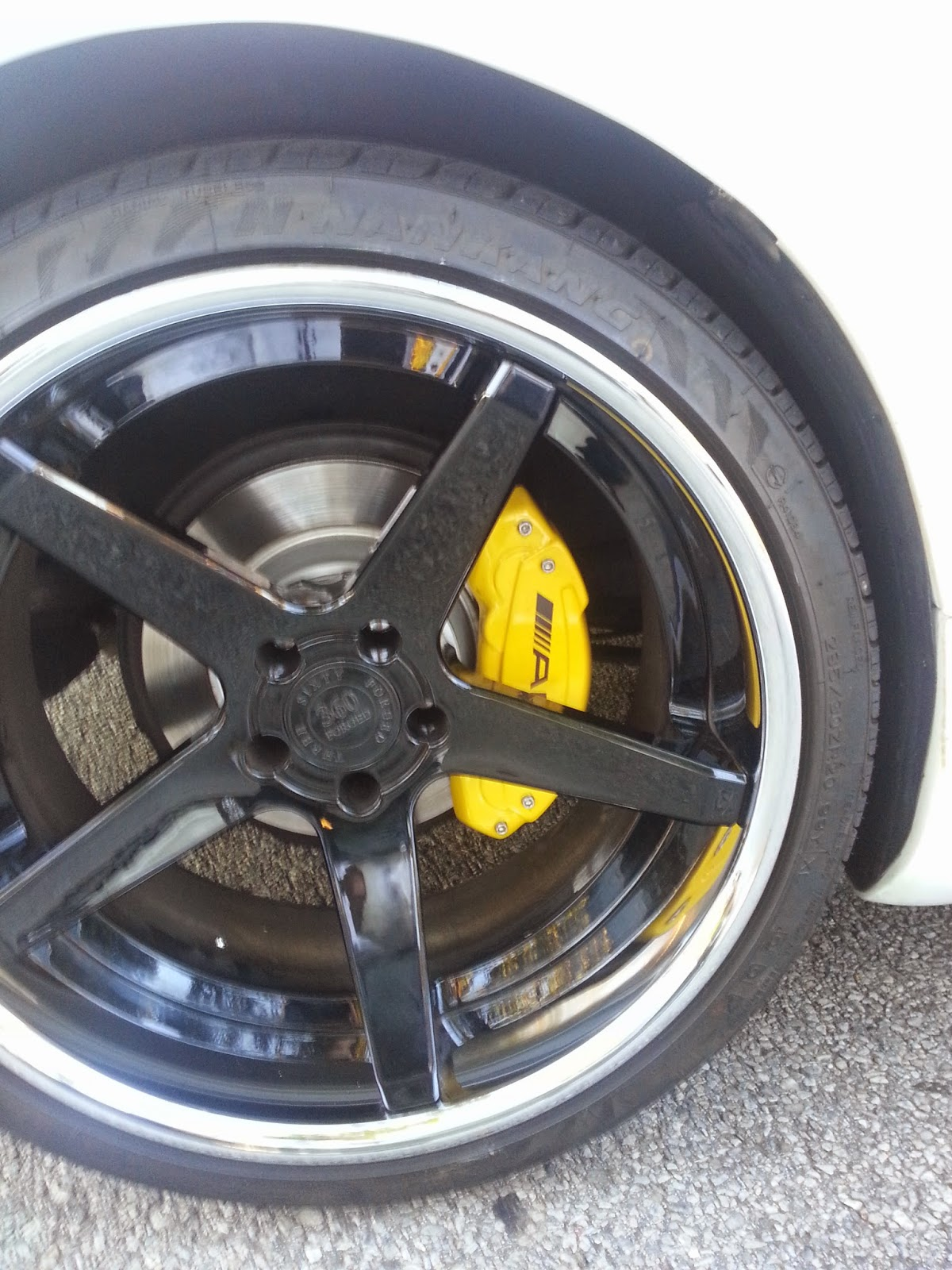 Ravenus Studios Sl500 Brake Caliper Covers Yellow And Black