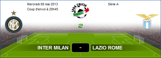Watch Inter Milan vs Lazio LIVE stream Online – Serie A 08.05.2013