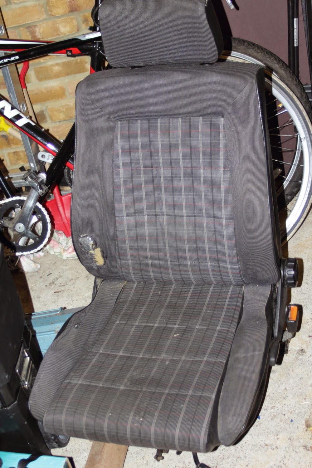 Early Golf GTI seat with side adjustment lever