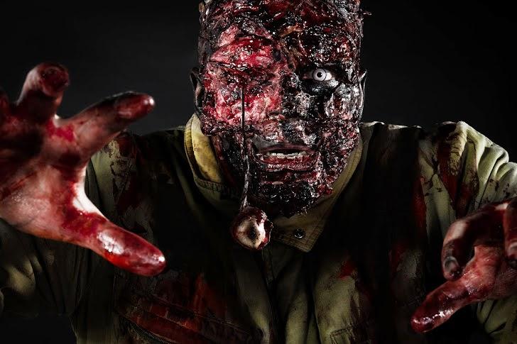 Zombie + makeup: Ari Savonen. School calendar project.
