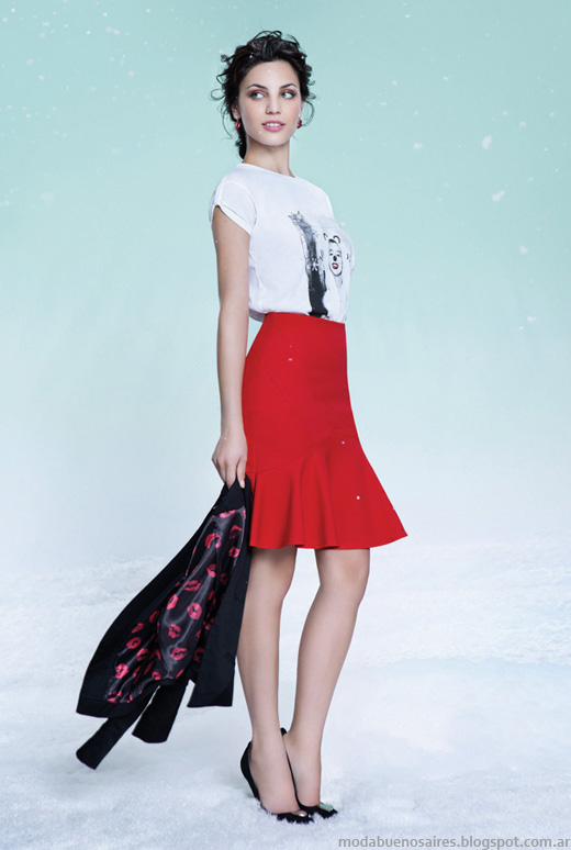 Las Oreiro otoño invierno 2014 faldas moda invierno 2014.