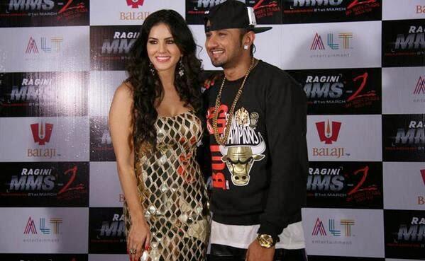 Sunny Leone and Yo Yo Honey Singh on Ragini MMS 2 movie promotion