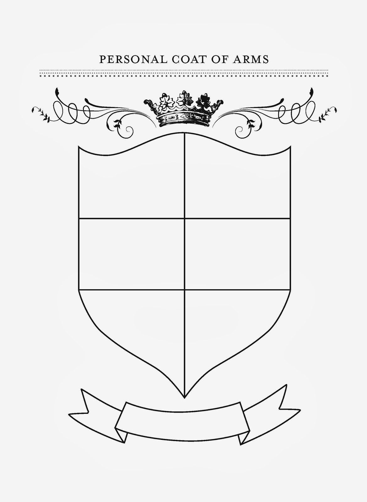Remarkable image intended for coat of arms template printable free