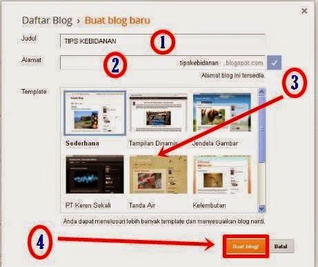 Cara Mudah Membuat Blog Untuk Pemula 4