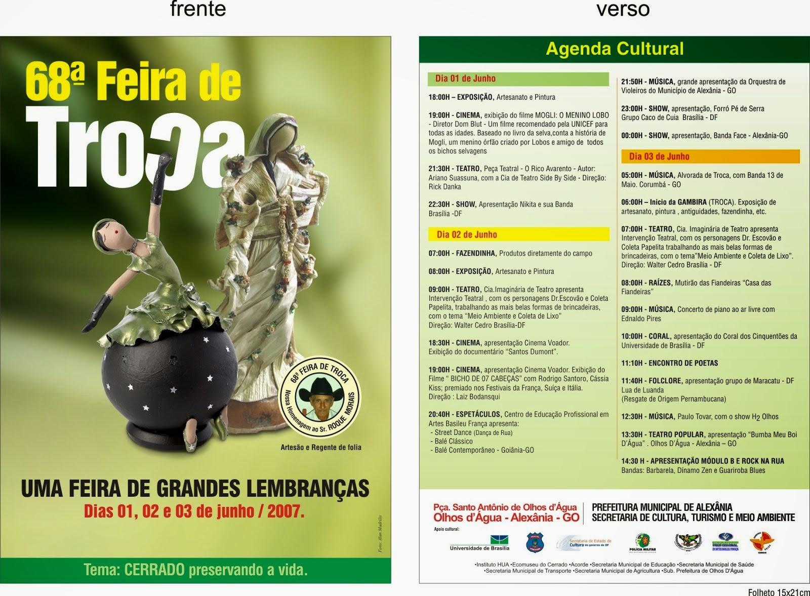 68ª FEIRA DE TROCAS DE OLHOS D'ÁGUA/ALEXÂNIA-GO