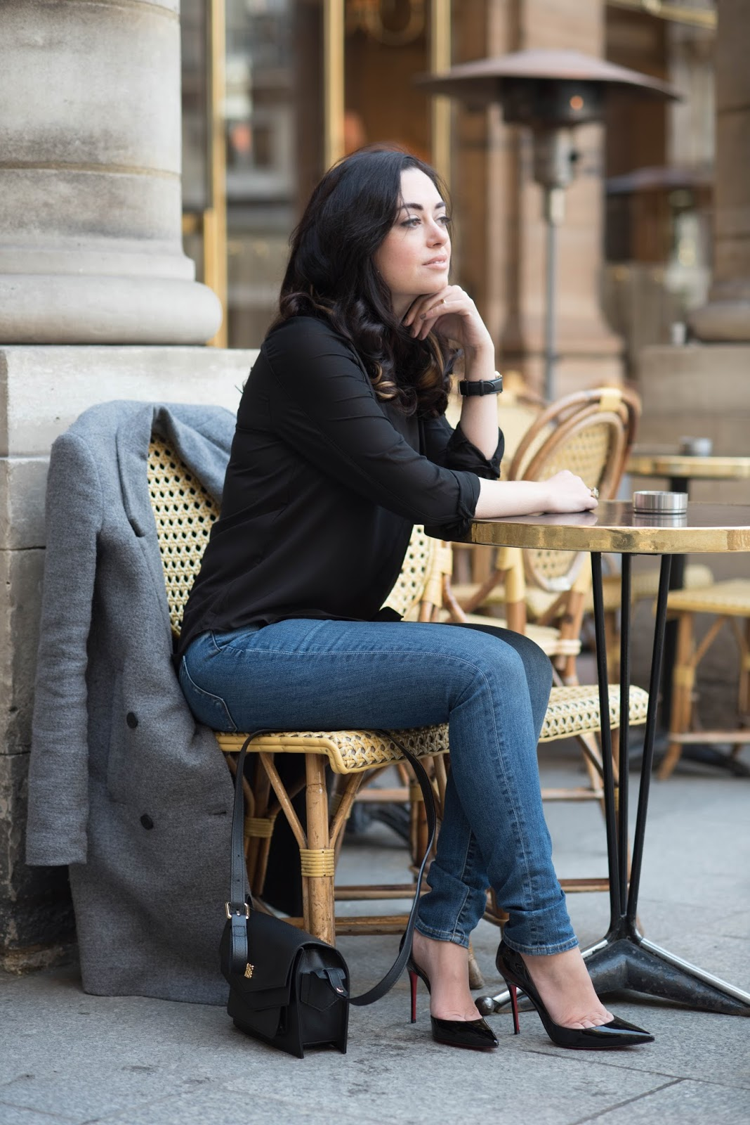 coco and vera, top paris fashion blog, outfit, ootd, casual, christian louboutin iriza, cc lifestyles maraca watch, le nemours, paris street style