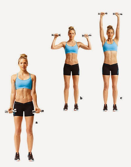 dumbbell curl and press, bicep curl and press