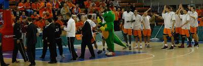 Presentación del B. Fuenlabrada en su partido 500 en la ACB.