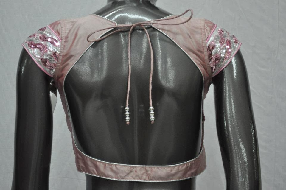 PIPING BACK NECK BLOUSE