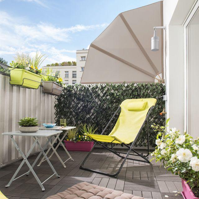 home garden 50 id es pour profiter de son balcon l 39 abri des regards. Black Bedroom Furniture Sets. Home Design Ideas