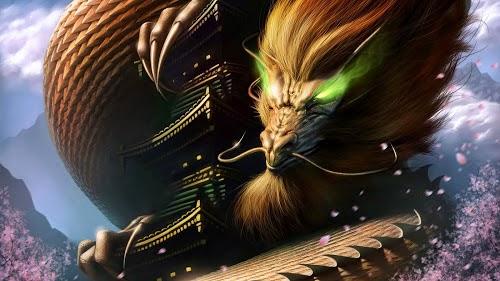 Gambar Wallpaper Fantasi Naga Keren