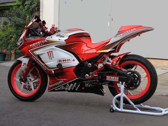 terbaru modifikasi motor ninja 250 merah