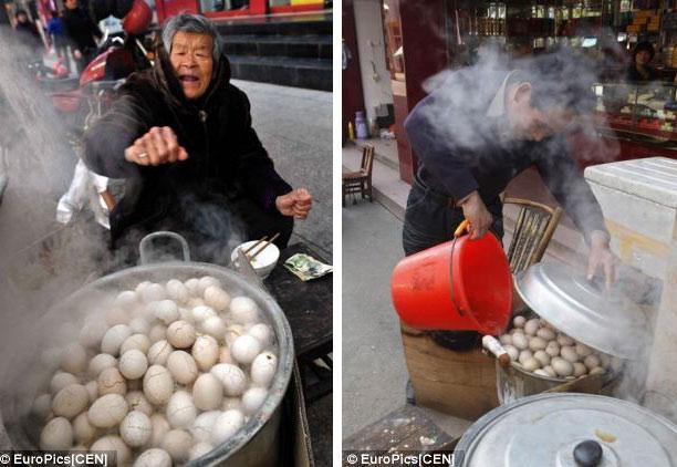 Kì lạ món trứng luộc nước tiểu trung quốc 5