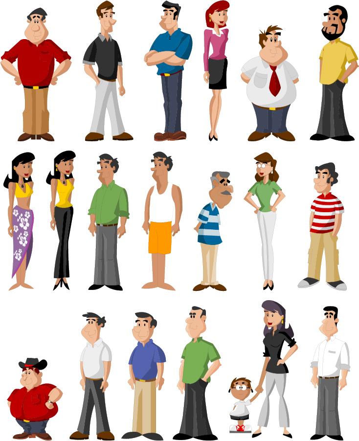 Character Design Artist Job Description : Bezierinfoベジェインフォ 様々なキャラクターの人物クリップアート all kinds of