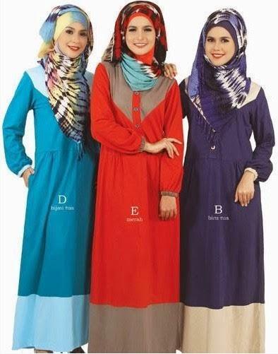 Baju muslim trendy terbaru untuk anak muda Contoh baju gamis anak
