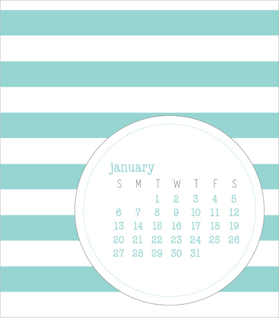 12-month calendar, designed by paper{whites}