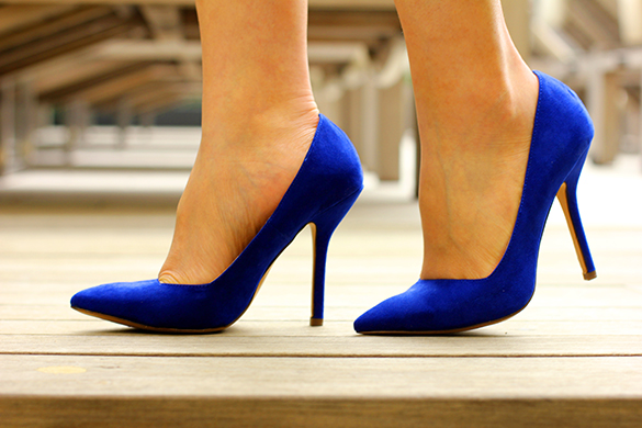 Zara Navy Blue Pumps