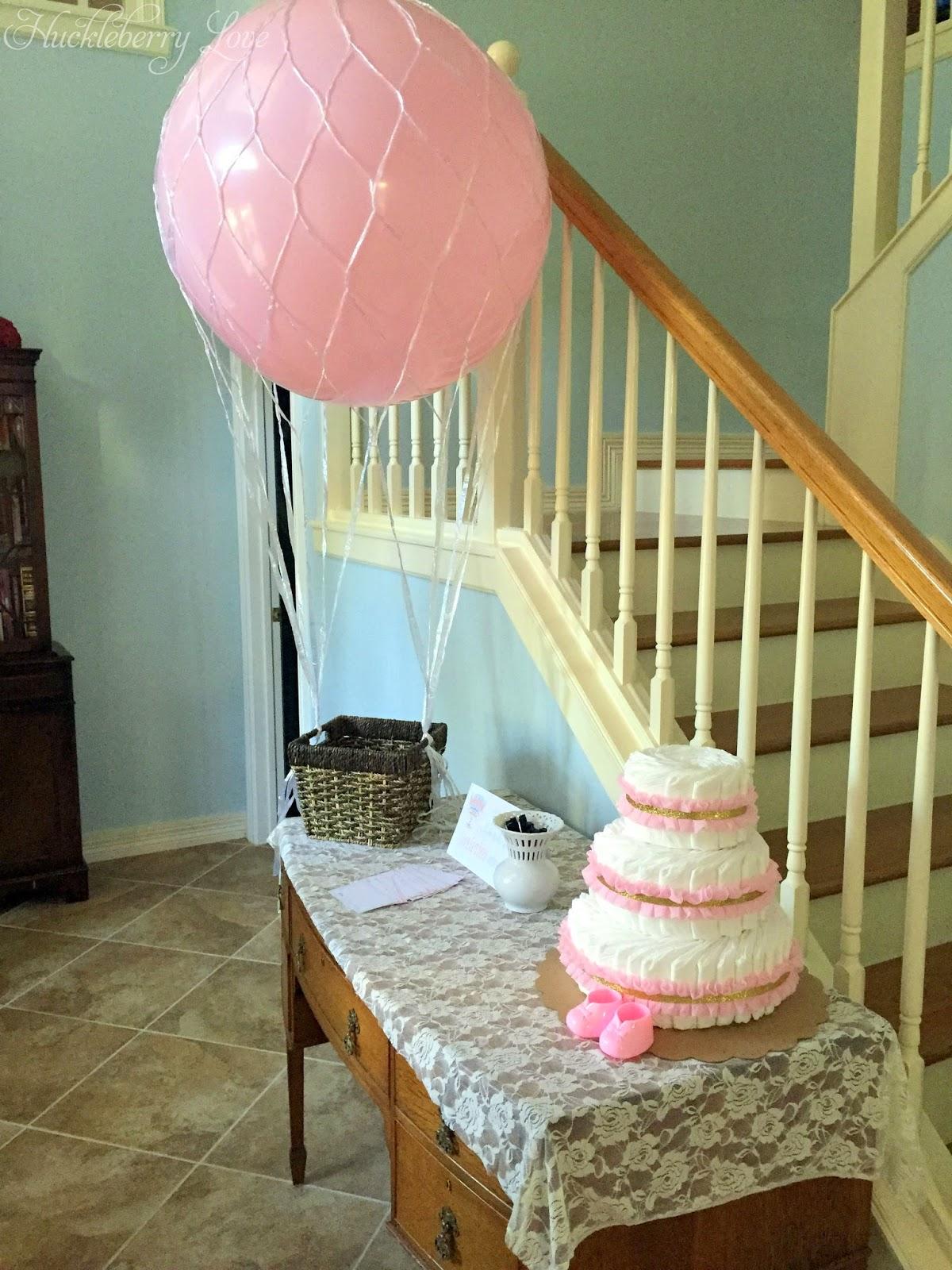 Huckleberry Love Hot Air Balloon Baby Shower
