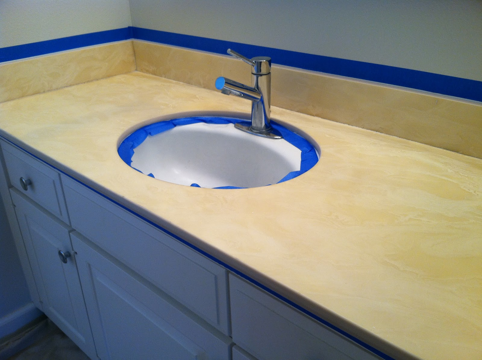 project reveal painted bathroom countertop