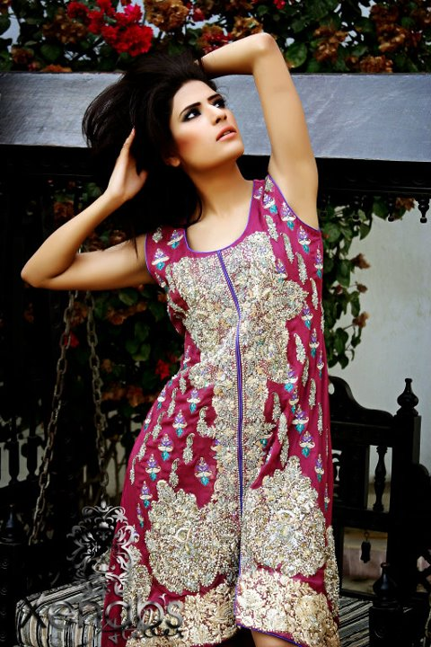 Heavy embroidered dresses bridal by xenab s