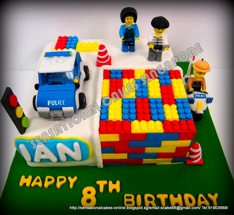 The Sensational Cakes Lego City Figurines 3d Cake Singapore