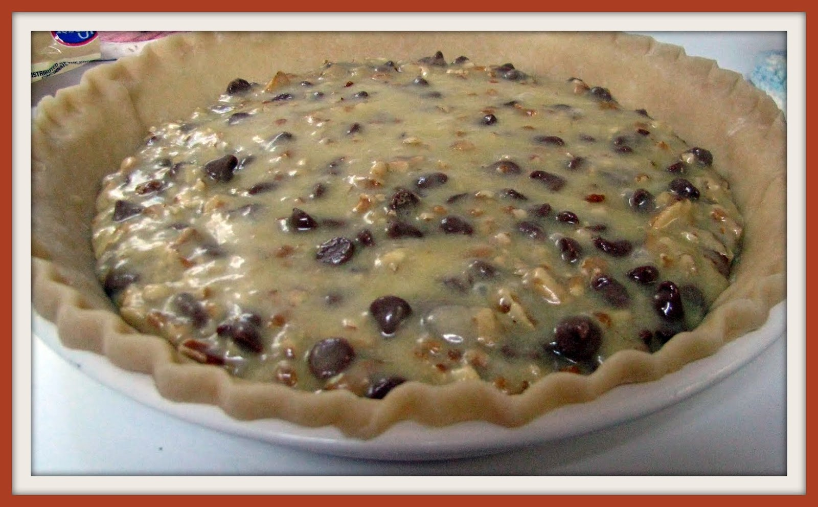 Little Family in the Big Woods: Milk Chocolate Chip Pecan Pie