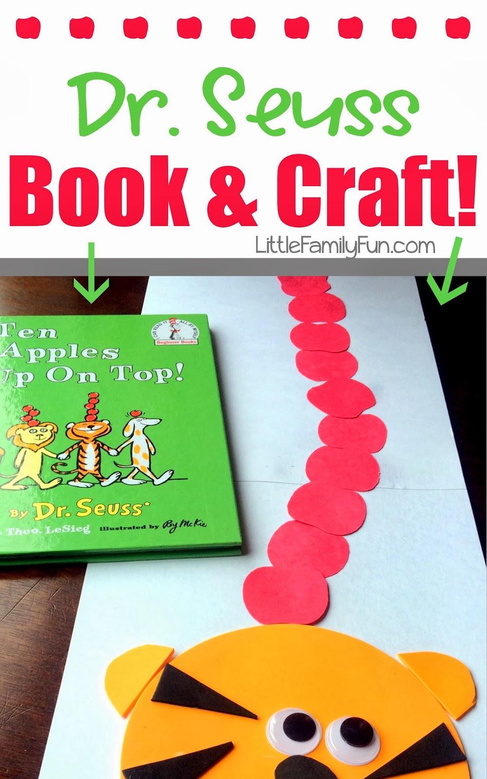 Ten apples up on top craft dr seuss book craft for Dr seuss crafts for preschool