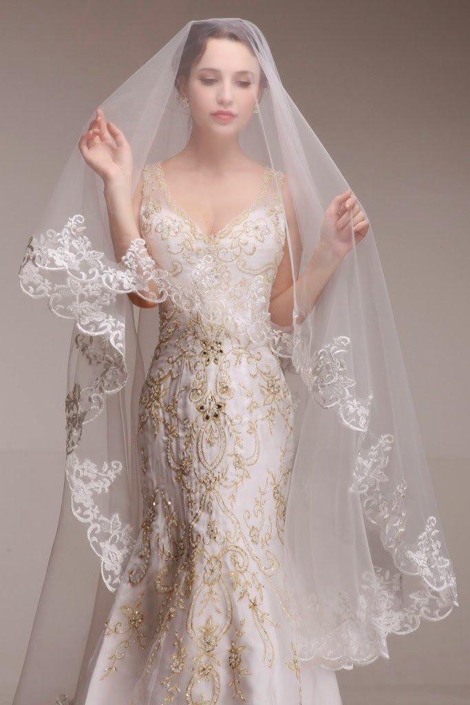Lace Wedding Dress And Veil : Style klik spot bridal wear veils designs lace