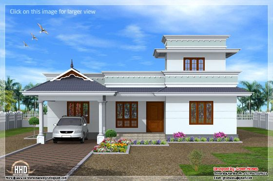 Kerala model one floor house