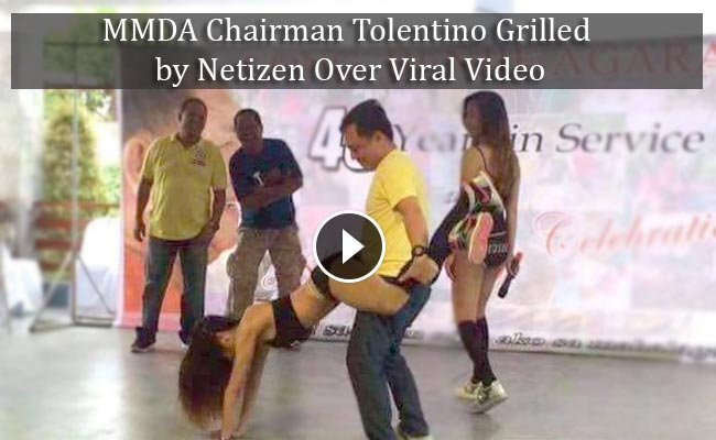 MMDA Chairman Tolentino Grilled by Netizen Over Viral Video