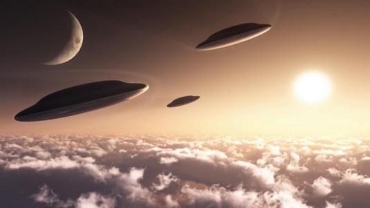 UFO around Earth
