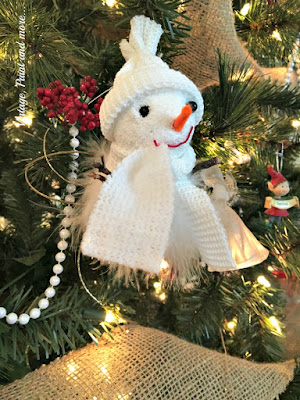 snowman chirstmas ornament
